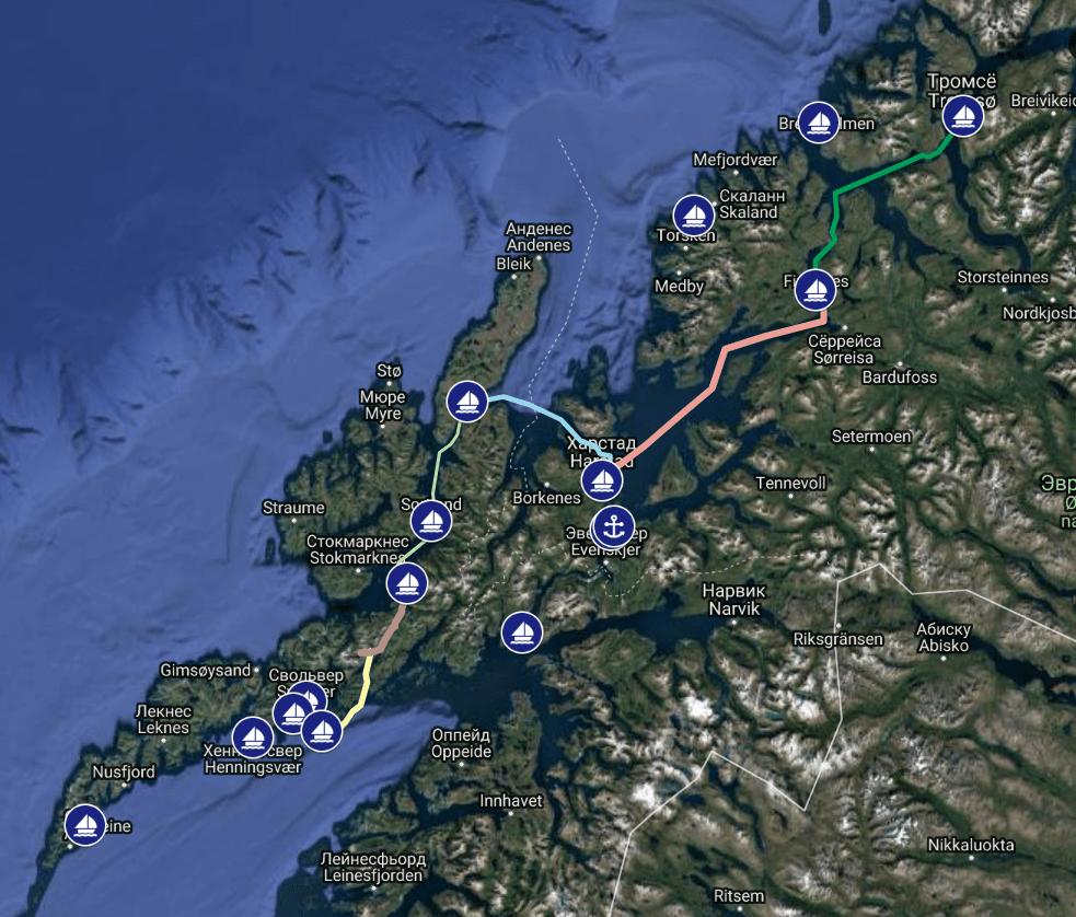 Яхтинг в Норвегии. Лофотенские острова. 12+
